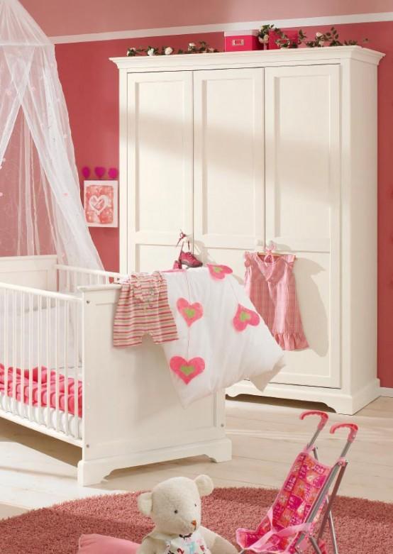 kalpli bebek beşik dolap