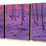 karlı orman canvas