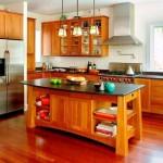 kiraz ağacı çekmeceli dolap 4 kişilik oturma kullanışlı amerikan mutfak