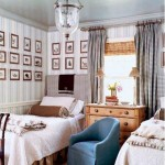 mavi beyaz ahşap çocuk oda