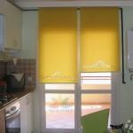 modern sarı stor perde