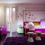 mor lila çocuk odası