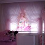 pembe çocuk oda perde