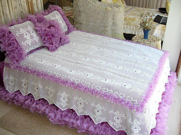 dantel yatak örtusu örnegi