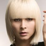 sarısa değişik saç modeli
