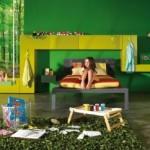 yeşil çocuk odası kids