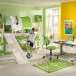 yeşil erkek odası dekoru