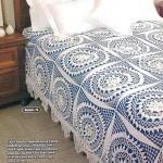 yuvarlak motifli dantel yatak örtüsü modeli